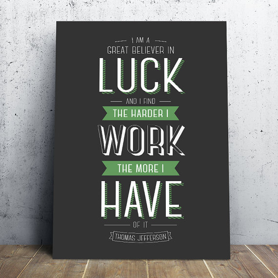 Luck, Serendipity or Straight Hard Work?